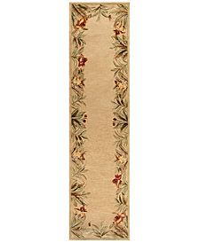 "KAS Sparta Rainforest 3151 Ivory 2'6"" x 10' Runner Area Rug"