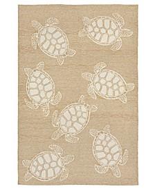 Capri 1634 Turtle 2' x 8' Indoor/Outdoor Runner Area Rug