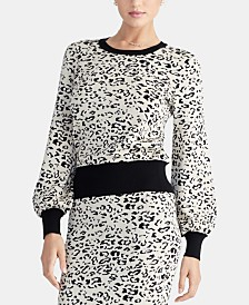 b39cc17cf327 RACHEL Rachel Roy Crewneck Leopard-Print Sweater