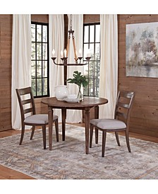 Lilah Dining 3-Pc. Set (Table & 2 Wood Back Side Chairs)