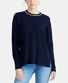RACHEL Rachel Roy Piped-Trim Sweater, Created for Macy's