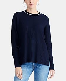 RACHEL Rachel Roy Piped-Trim Sweater, Created for Macy's