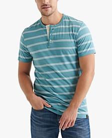 Men's Striped Henley T-Shirt