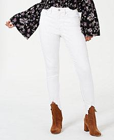 American Rag Juniors' Chewed-Hem White Jeans, Created for Macy's