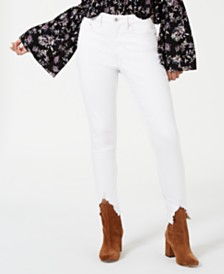 American Rag Juniors' Chewed-Hem White Jeans, Created for Macy's