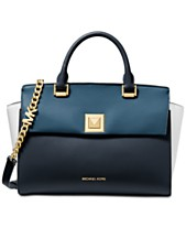 4ddeefeaf MICHAEL Michael Kors Sylvia Tricolor Crossgrain Leather Top Zip Satchel