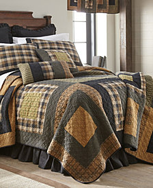 Forest Square Cotton Quilt Collection, Queen