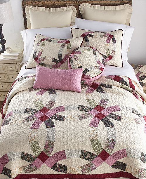 American Heritage Textiles Deidre Wedding Ring Cotton Quilt Collection, King