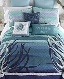 Summer Surf Cotton Quilt Collection, Queen