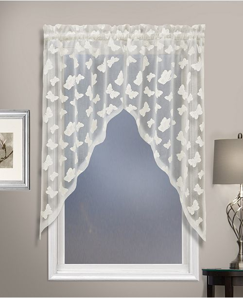 """United Curtain Co Inc Madame 52"""" X 38"""" Tie Up Topper"""