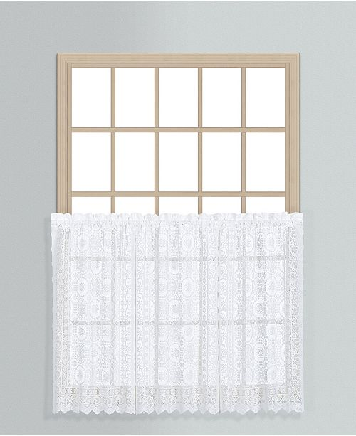 """United Curtain Co Inc New Rochelle 56"""" X 36"""" Kitchen Tier Pair"""