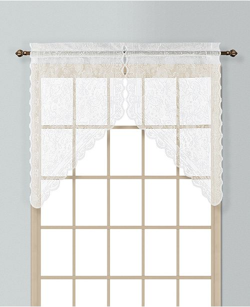 """United Curtain Co Inc Windsor 56"""" X 38"""" Pair Of Kitchen Swags"""