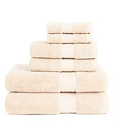 6 Piece Bath Towel Set