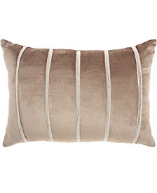 Inspire Me! Home Decor Pleated Stripes Nude Throw Pillow