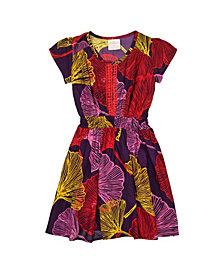 Masala Baby Girls Mia Dress Ginkgo Leaves
