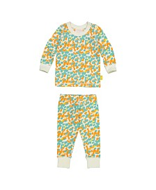 Masala Baby Organic Cotton Kids Long sleeve Pajamas Spotted Pool