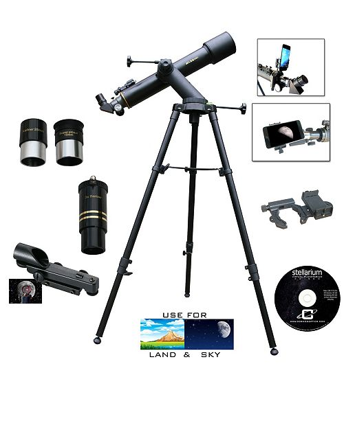 Cosmo Brands Cassini 600mm X 90mm Day and Night Tracker Mount Telescope and Smartphone Adapter