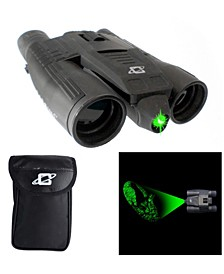 Galileo 8 Power Day Night Green Laser Binocular with 32mm Lenses and Tripod Socket