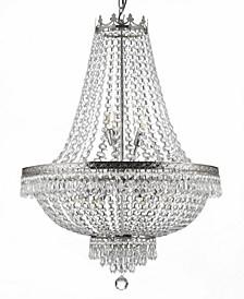 Empire 9-Light Crystal Silver Chandelier