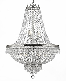 Empire 9-Light Crystal Silver Chandelier