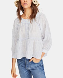 Free People Sea To Shore Striped Top