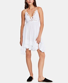 Free People Adella Crochet-Top Ruffled-Hem Dress