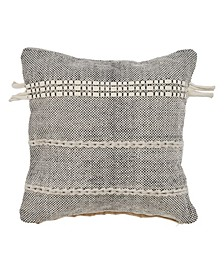 Natural Woven Throw Pillow