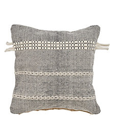 LR Home Natural Woven Throw Pillow