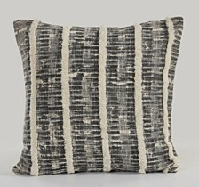 LR Home Contemporary Over tufted Striped Pillow