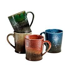 Blaze Mugs Assorted Colors, Set Of 4