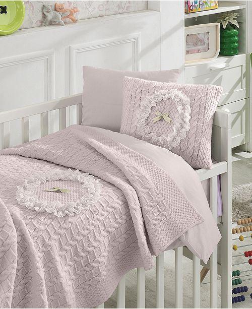 Nipperland Lace Premium 6 Piece Crib Bedding Set