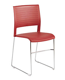 Renate Stack Chair with Chrome Base - Set Of 4