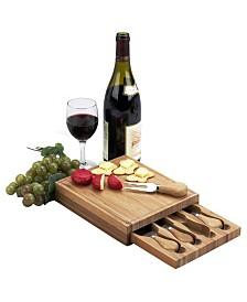 Picnic at Ascot Edam Bamboo Cheese Board Set with 4 Tools