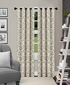 """Leaves Textured Blackout Curtain Set of 2, 52"""" x 63"""""""