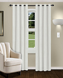 "Superior Linen Textured Blackout Curtain, Set of 2, 52"" x 63"""