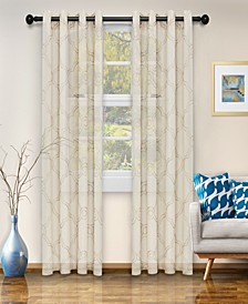 "Semi-Sheer Moroccan Printed Curtain Panels, Set of 2, 52"" x 63"""