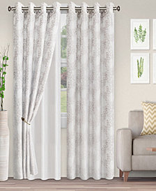 "Superior Lightweight Foliage Semi-Sheer Curtain Panels, (2), 52"" x 96"""
