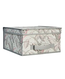 Laura Ashley Medium Collapsible Storage Box in Palm Leaf