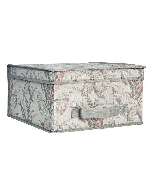 Laura Ashley Medium Collapsible Storage Box in Palm Leaf