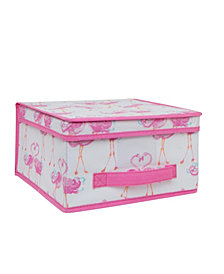 Laura Ashley Kids Medium Collapsible Storage Box in Pretty Flamingo