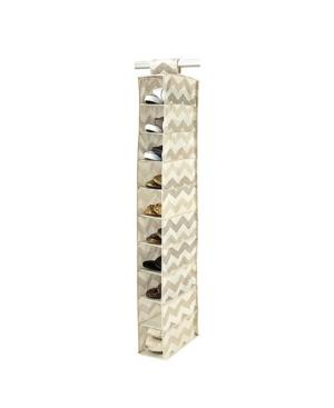 The Macbeth Collection Closet Candie 10 Shelf Shoe Organizer in Textured Chevron