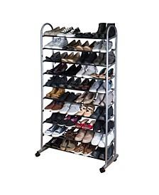 10 Tier Mobile Shoe Rack