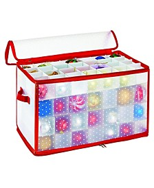 112-Count Ornament Organizer in Red