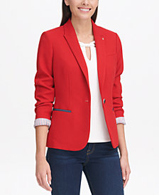 Tommy Hilfiger Peak-Lapel Single-Button Blazer, Created for Macy's