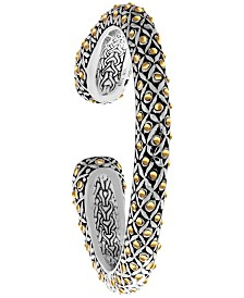 The Eclipse Signature Sterling Silver Cuff embellished by 18K Gold Accents Dots