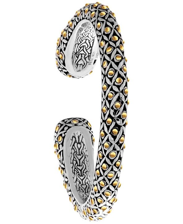 DEVATA The Eclipse Signature Sterling Silver Cuff embellished by 18K Gold Accents Dots