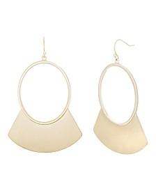 Catherine Malandrino Women's Polished Yellow Gold-Tone Crescent Hoop Earrings