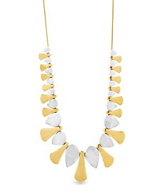 "Catherine Malandrino Women's 2-Tone Geo Shaped 32"" Yellow Gold-Tone And Silver-Tone Necklace"