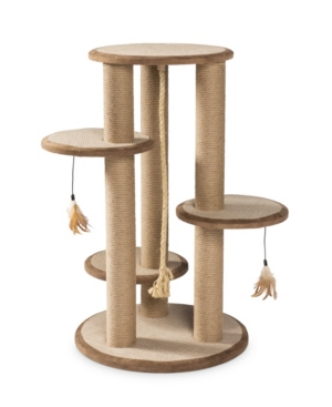 Prevue Pet Products Kitty Power Paws Multi-Platform Posts With Tassels 7150