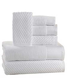 Spa 100% Cotton Jacquard 6 Piece Towel Set